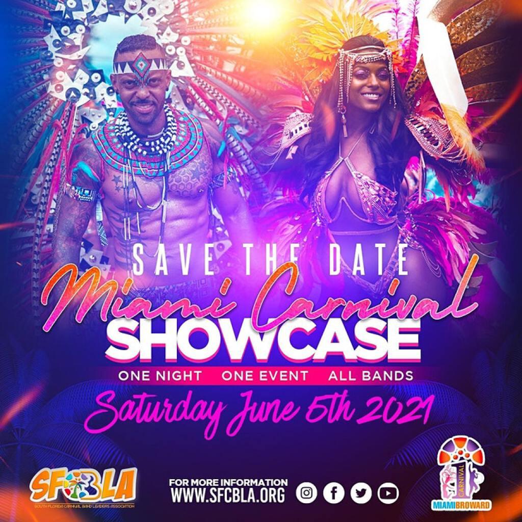 Miami Carnival Showcase 2021  flyer or graphic.