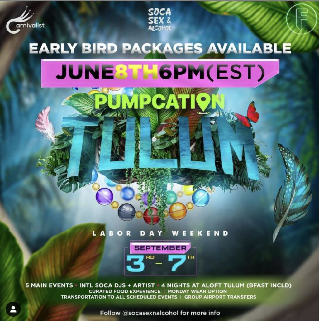 Pumpcation Tulum flyer or graphic.