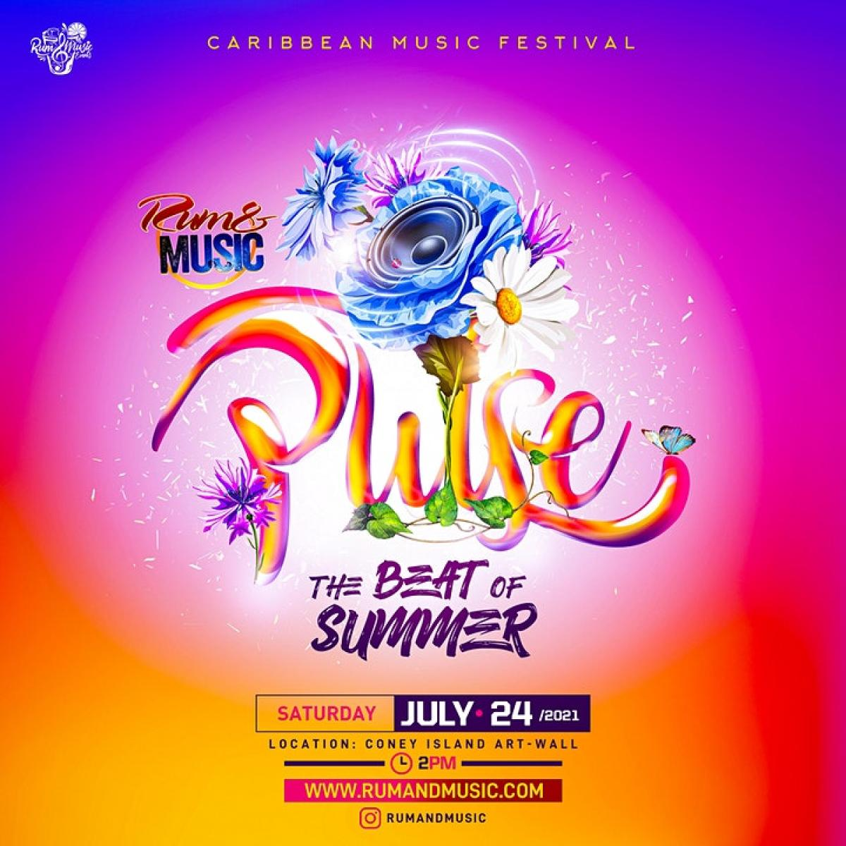 """Rum and Music """"Pulse"""": Festival Of Music flyer or graphic."""
