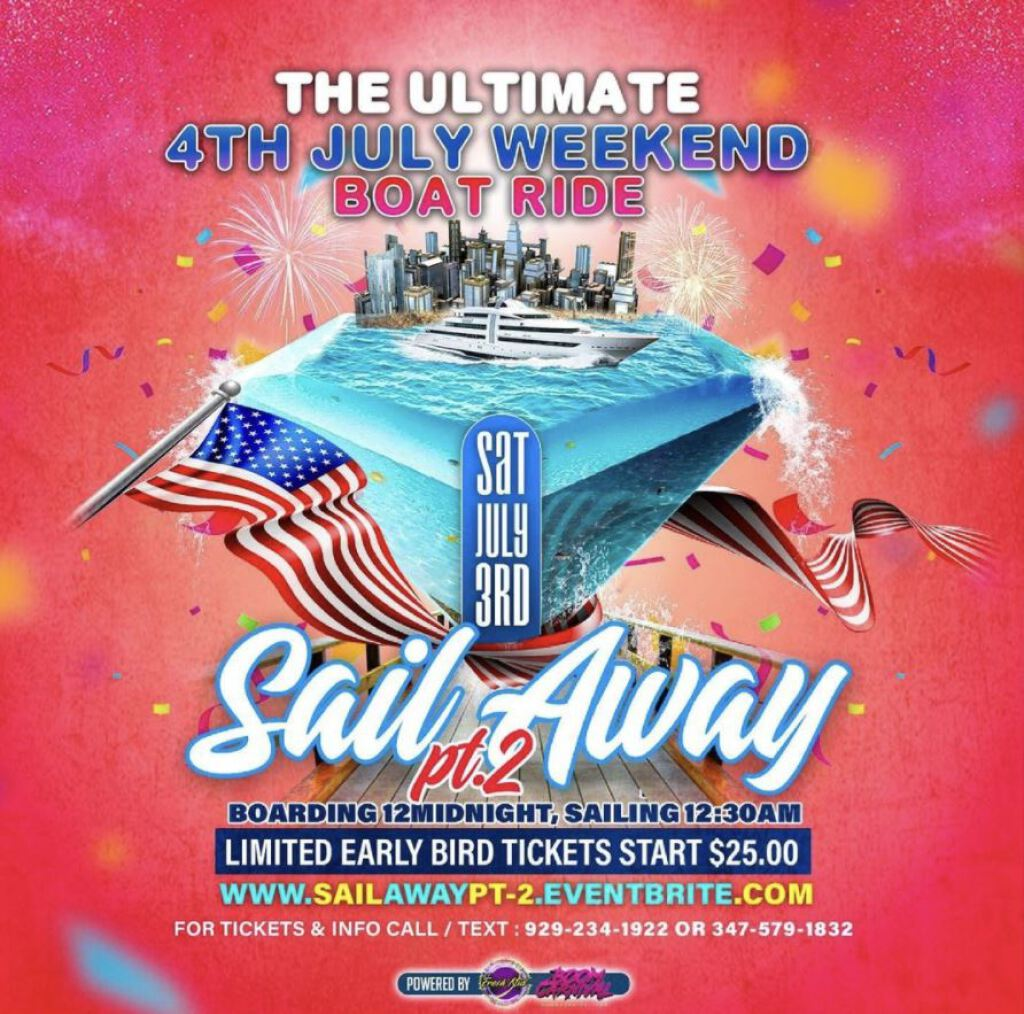Sailing Away flyer or graphic.