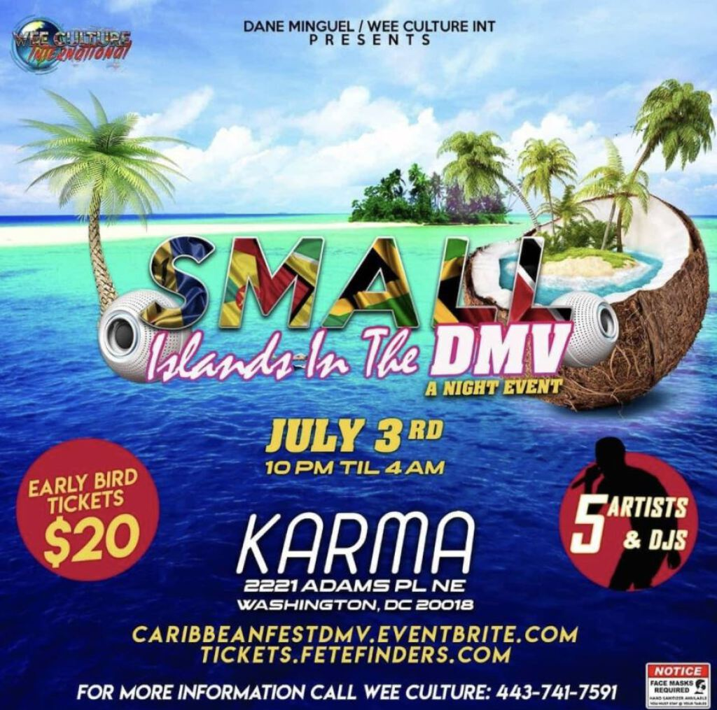 Small Islands In The Dmv flyer or graphic.