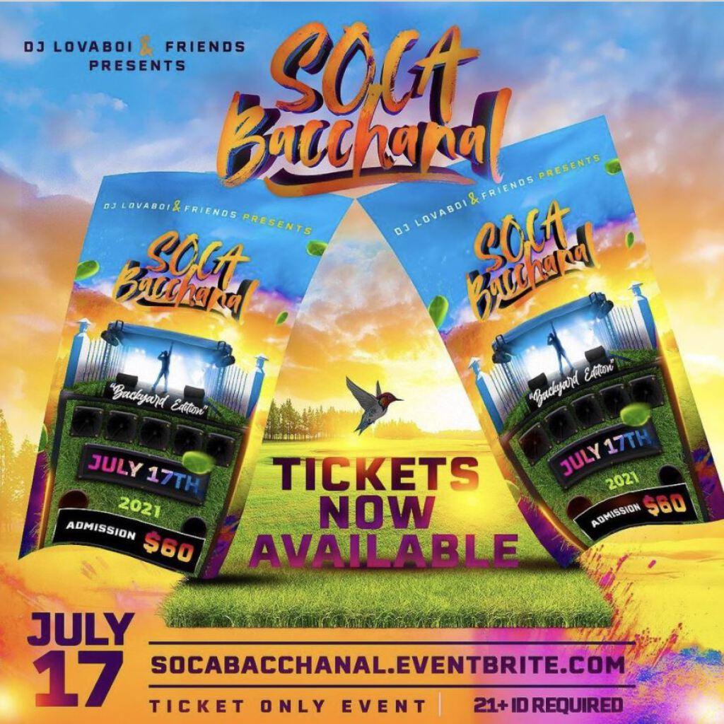 Soca Bacchanal - Backyard Edition flyer or graphic.