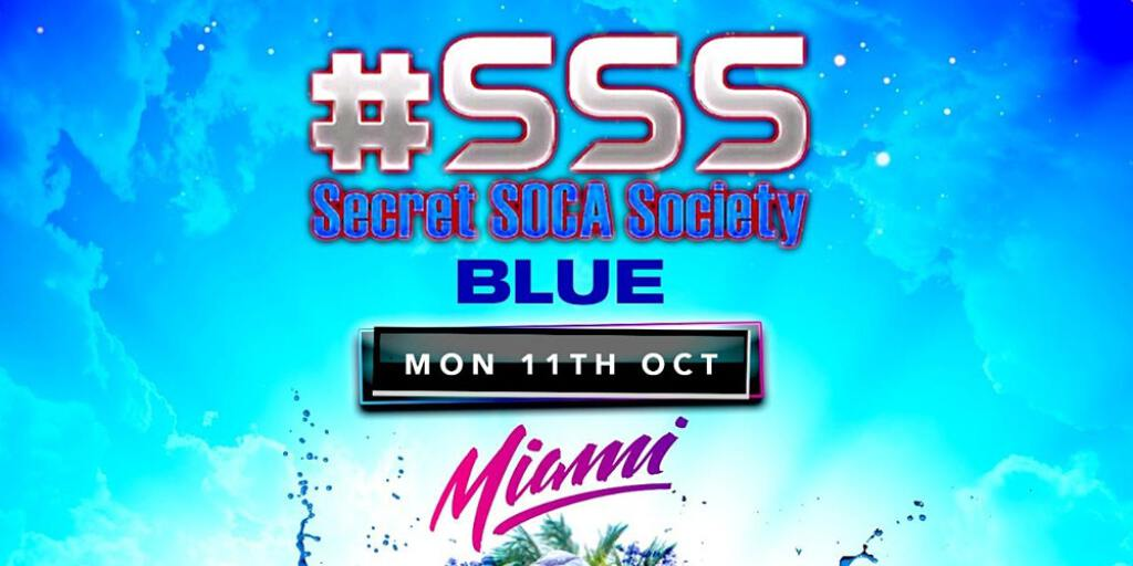 #SSS BLUE Jouvert flyer or graphic.