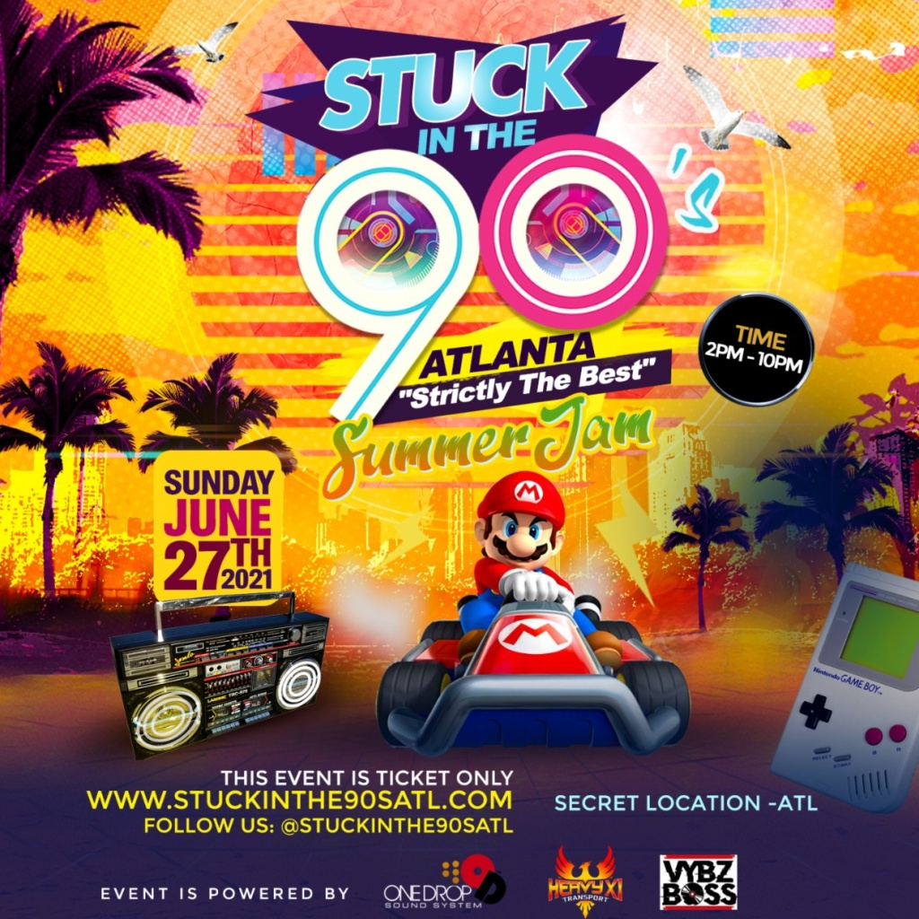 Stuck In The 90s - Summa Jam flyer or graphic.