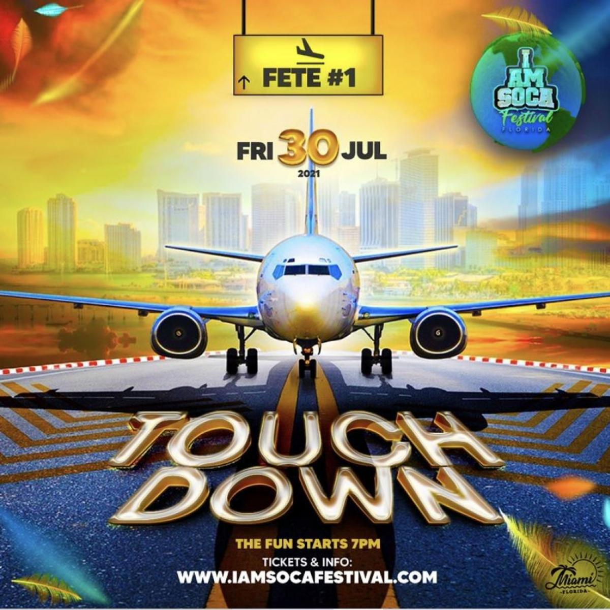Touch Down flyer or graphic.