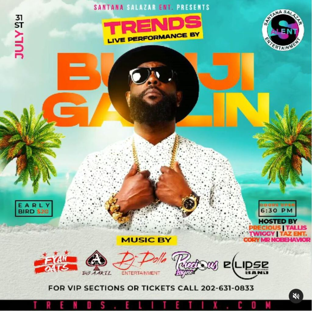 Trends: Bunji In The DMV flyer or graphic.
