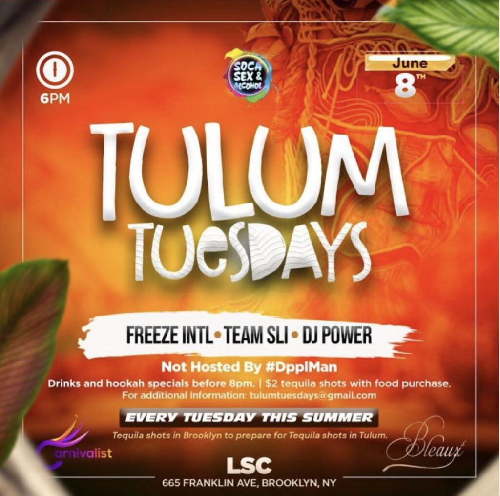 Tulum Tuesdays  flyer or graphic.