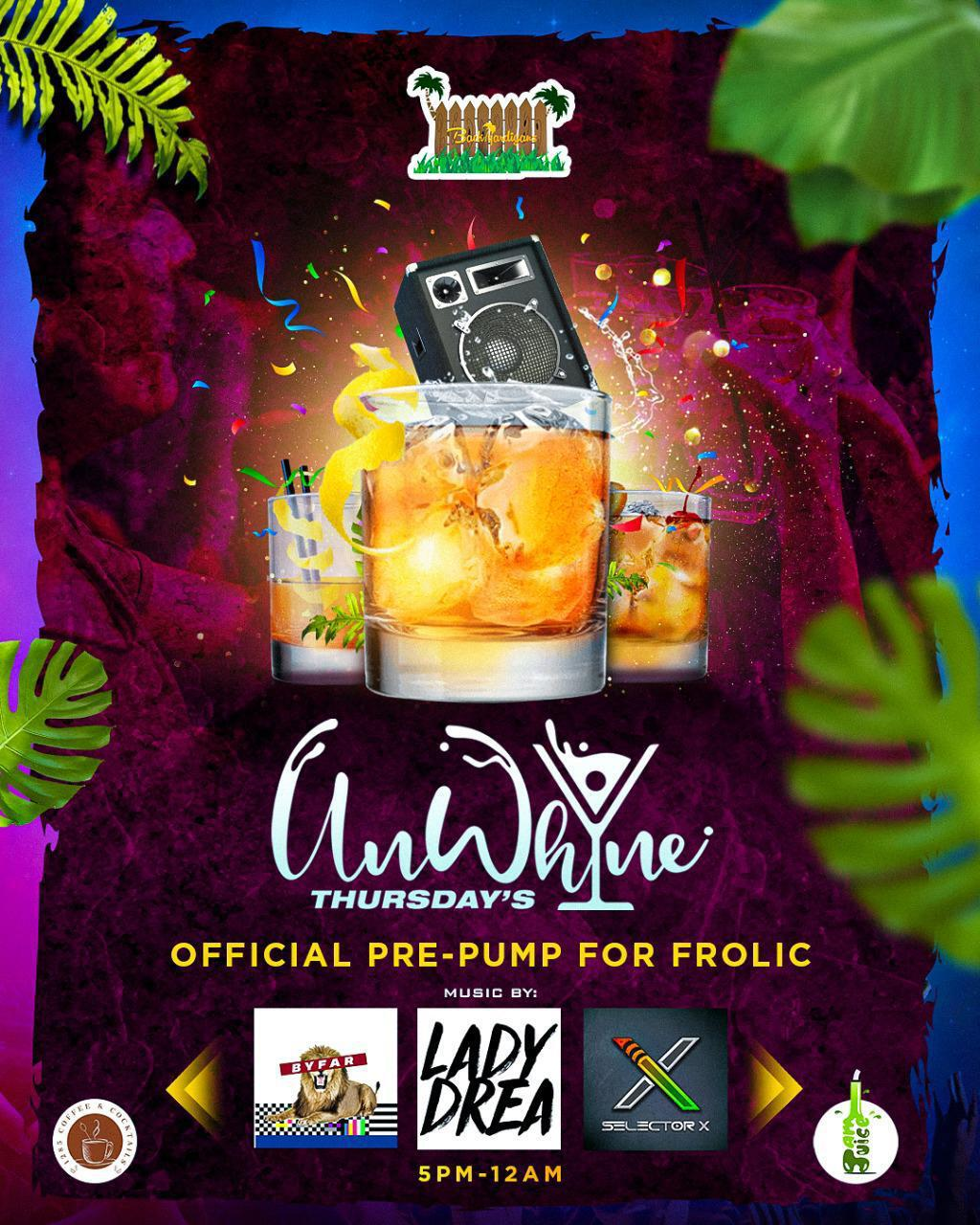 Unwhine Thursdays flyer or graphic.