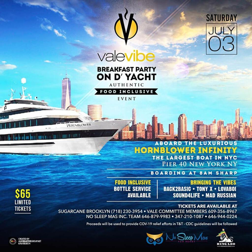 ValeVibe Breakfast Yacht Party flyer or graphic.