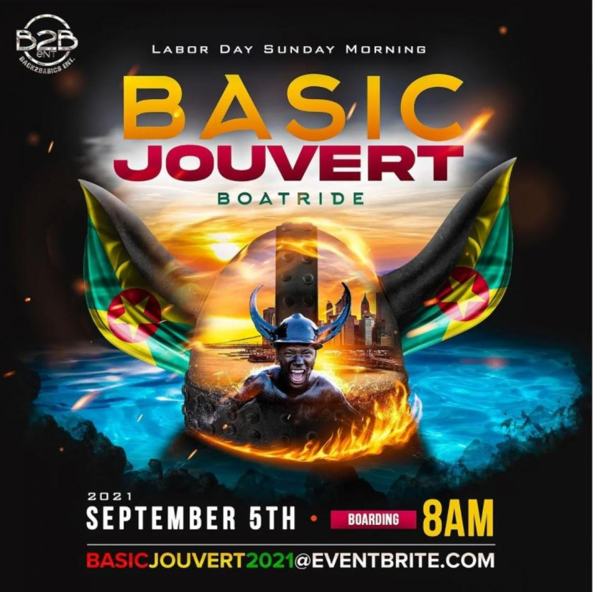 Basic Jouvert Boatride flyer or graphic.