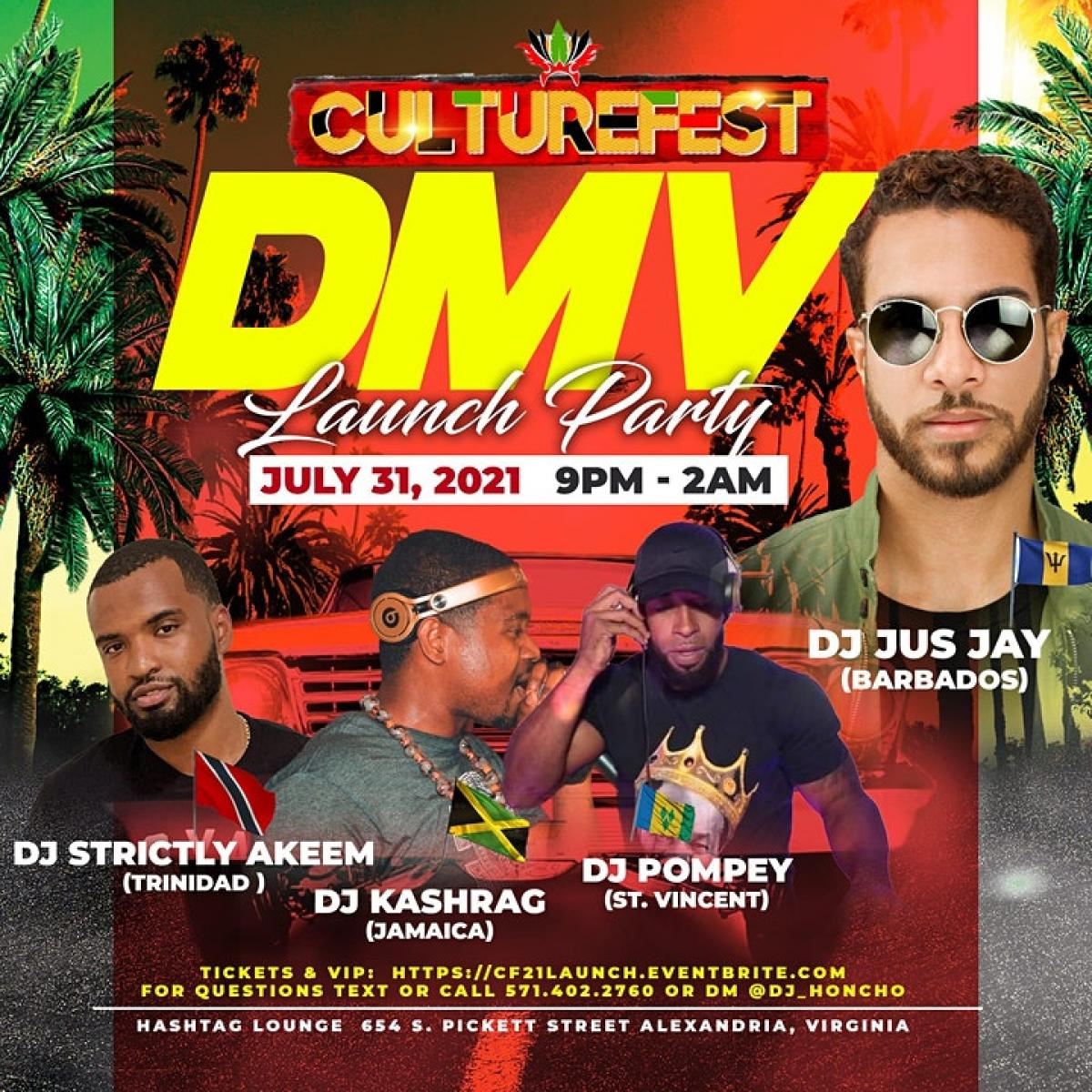 "Culturefest DMV ""Launch Party"" flyer or graphic."