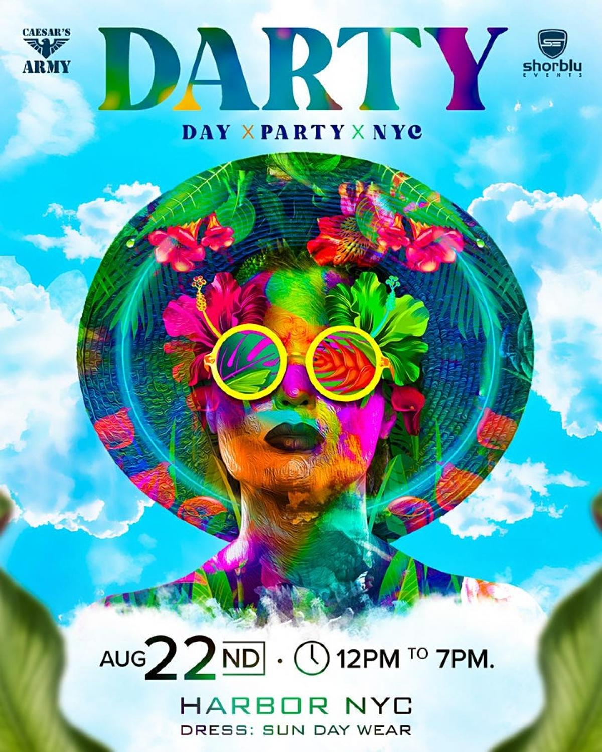 DARTY | Day x Party x NYC flyer or graphic.