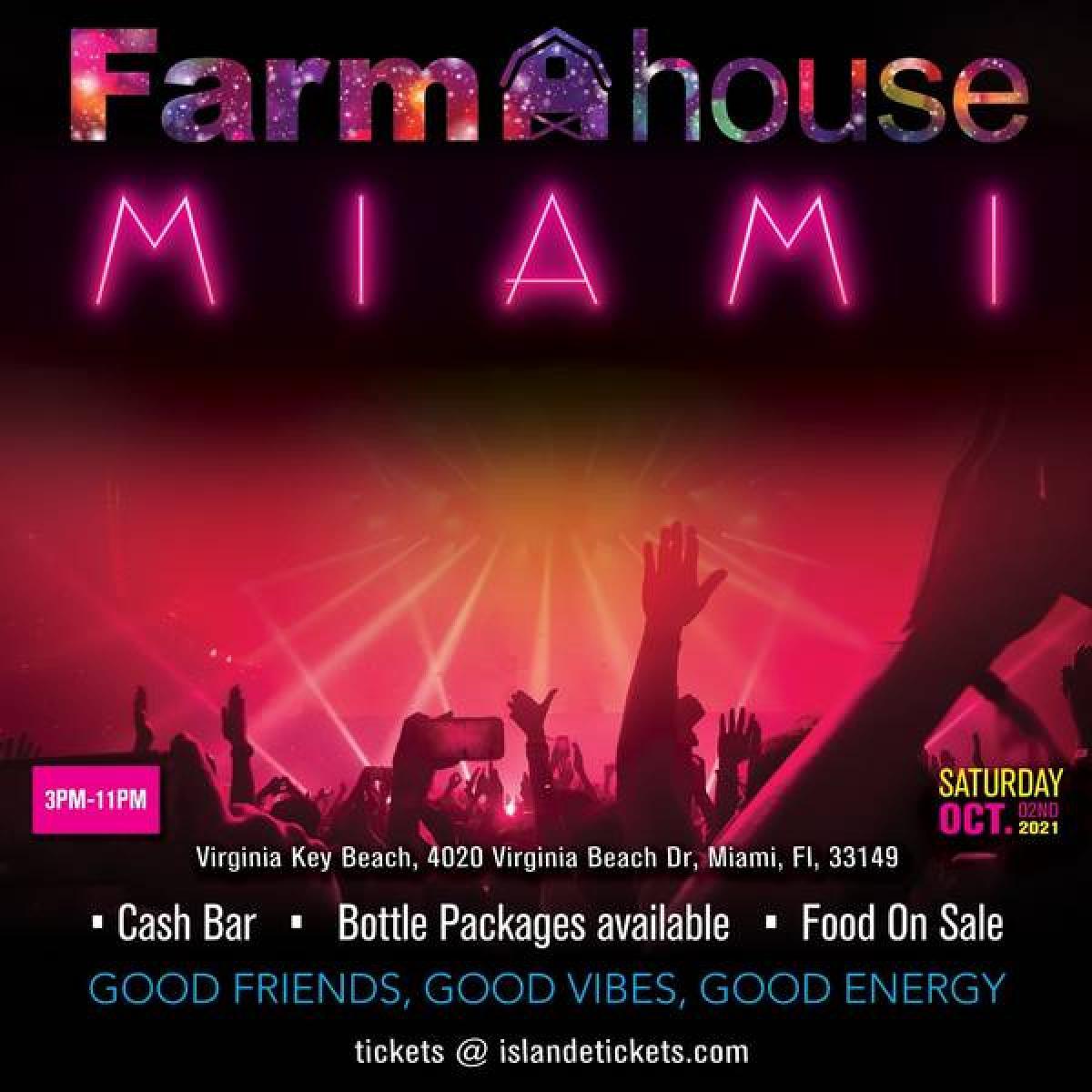 Farmhouse Miami flyer or graphic.