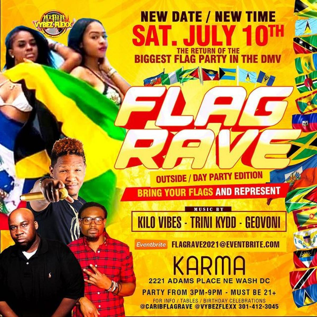 Flag Rave flyer or graphic.