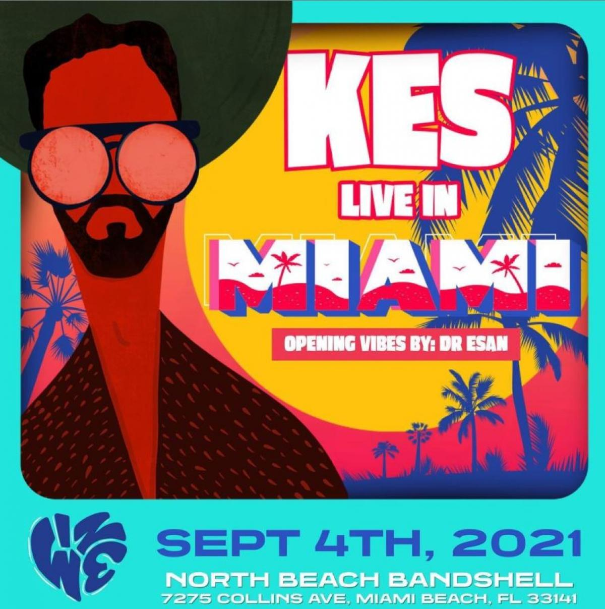 Kes The Band Live In Miami flyer or graphic.