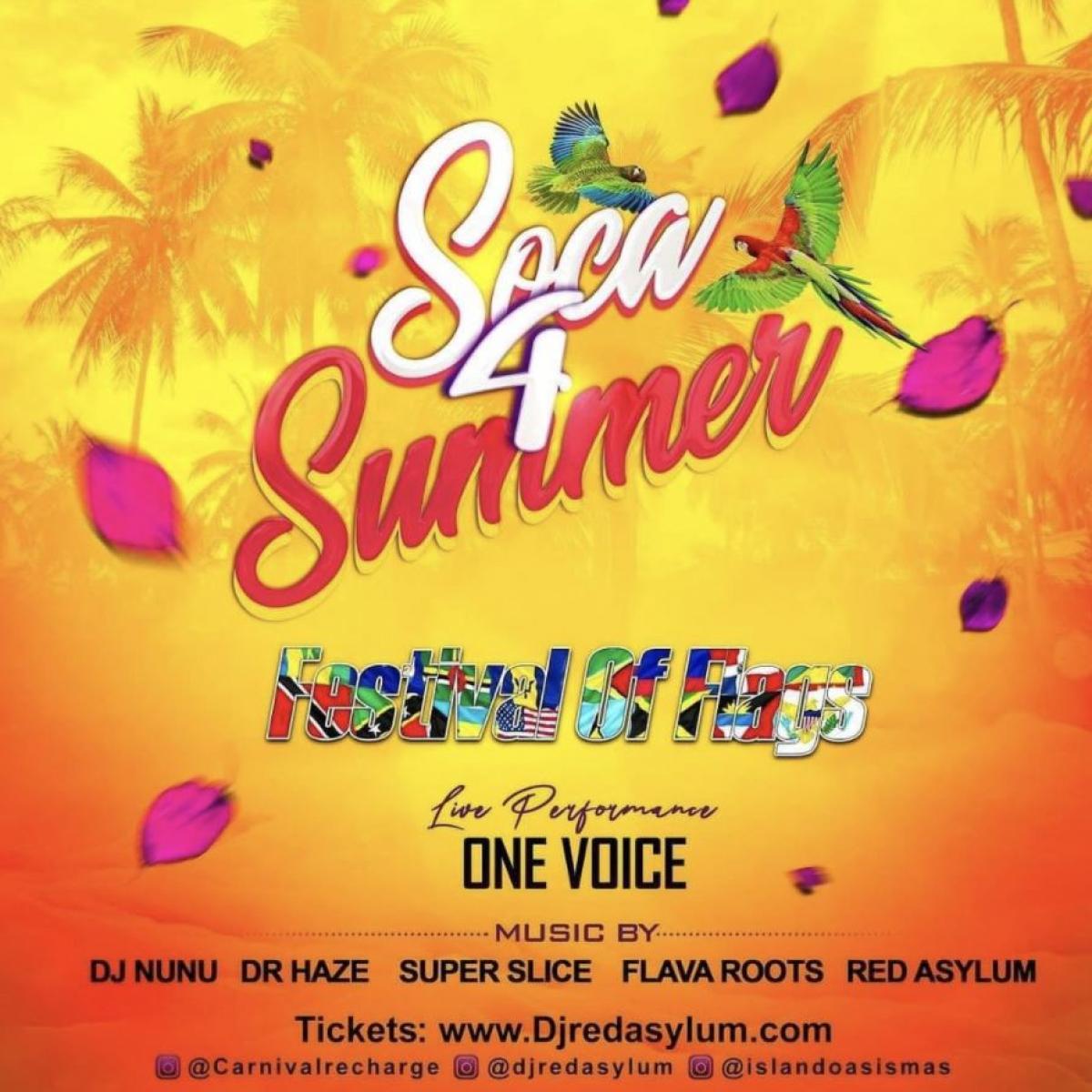 Soca 4 Summer flyer or graphic.