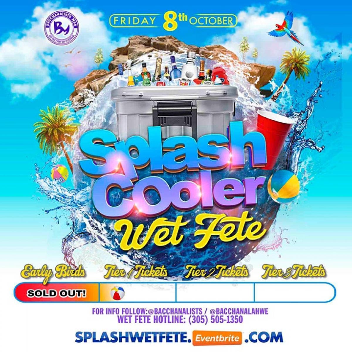 Splash Cooler Wet Fete flyer or graphic.