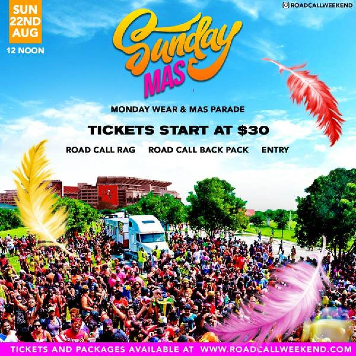 Sunday Mas flyer or graphic.
