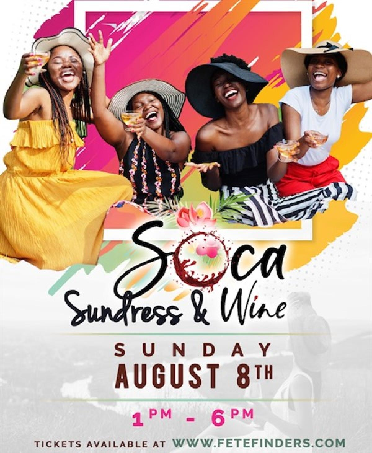 Sundress & Wine flyer or graphic.