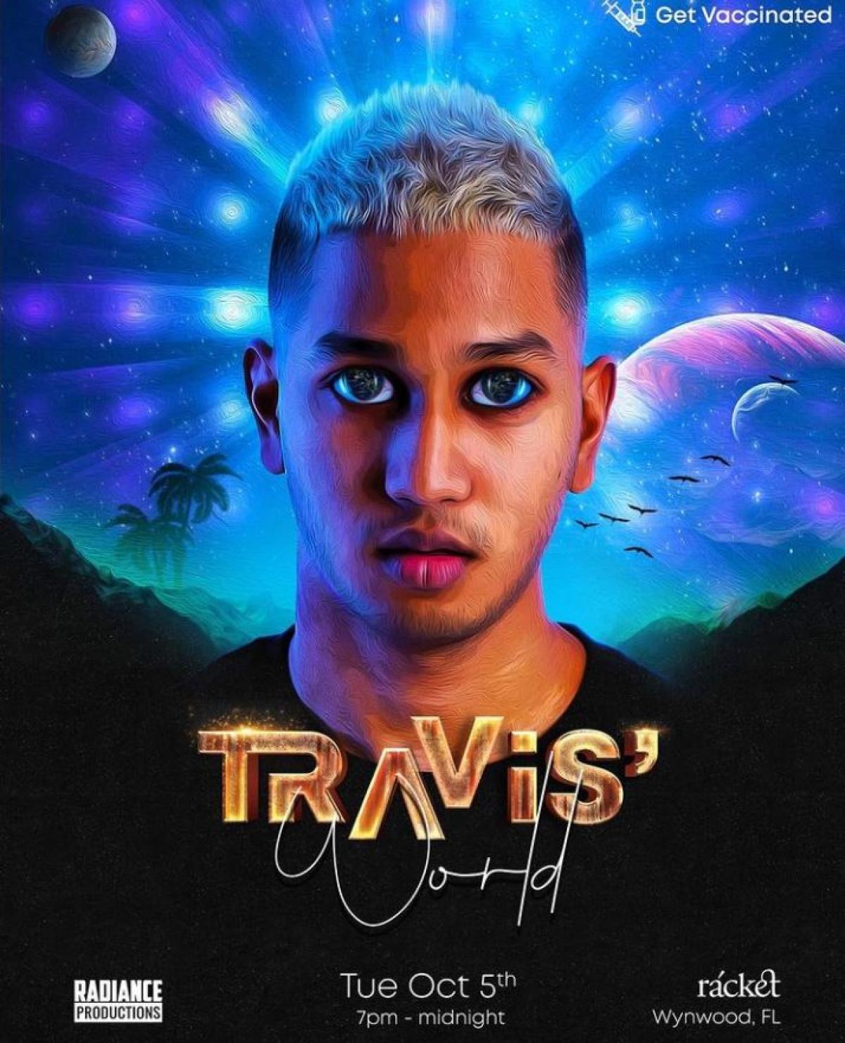 Travis' World flyer or graphic.