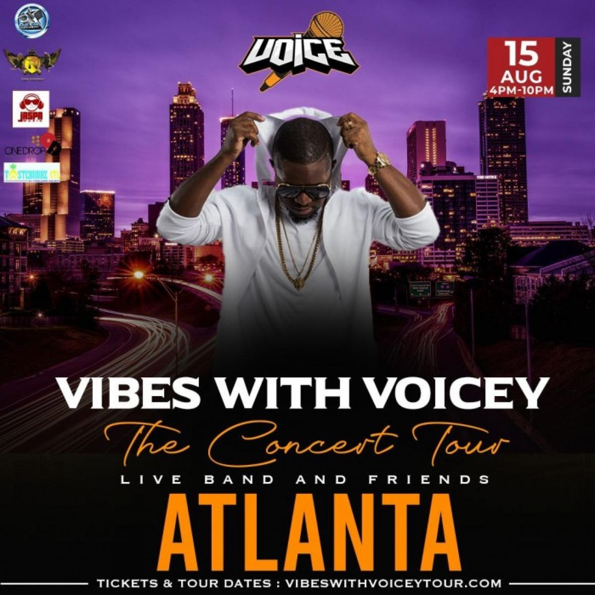 Vibes With Voicey: The Concert Tour Atlanta flyer or graphic.