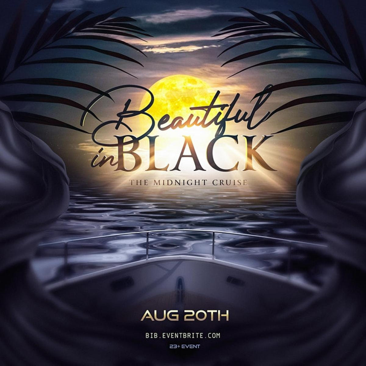 Beautiful in Black flyer or graphic.