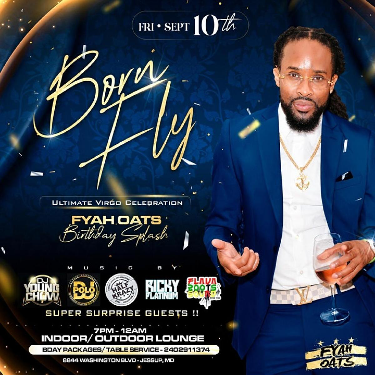 Born Fly flyer or graphic.