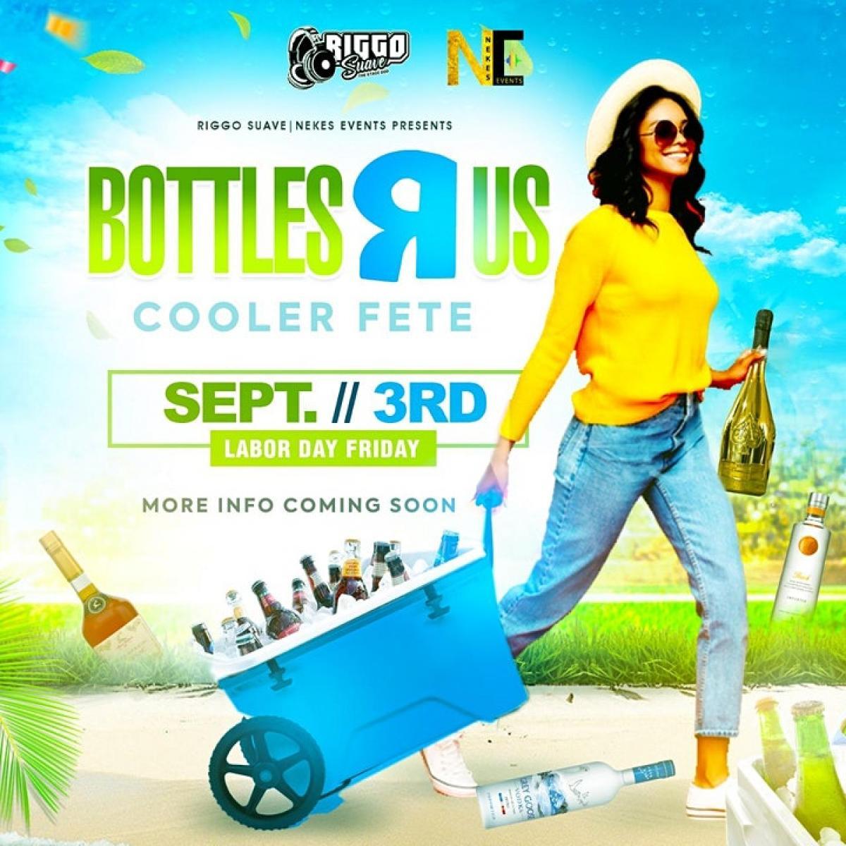 Bottles R Us flyer or graphic.