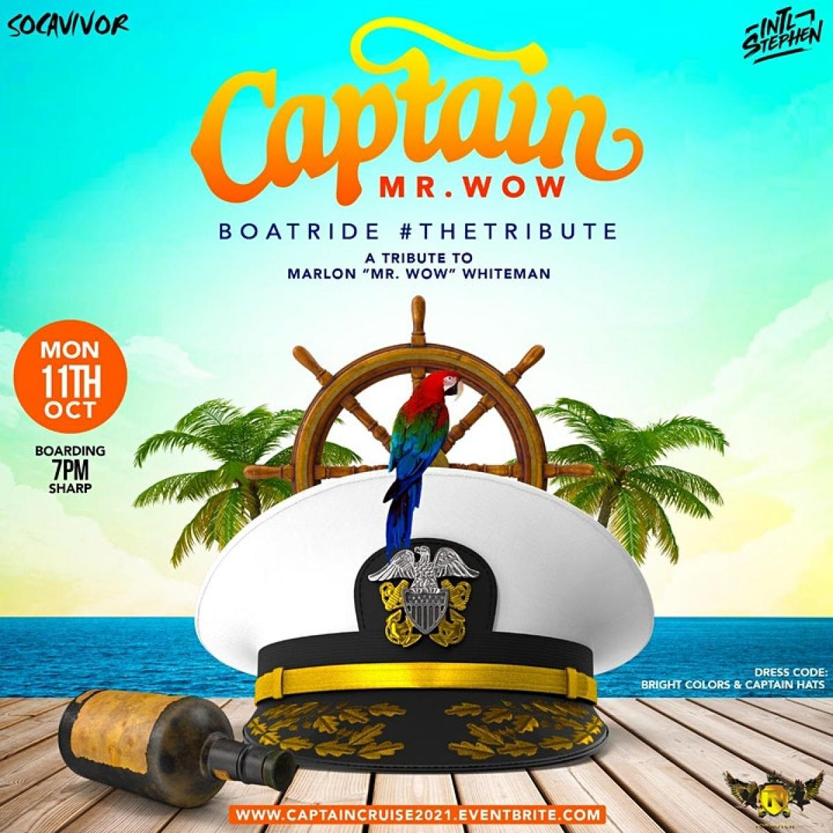 Captain Cruise - Bright Colors & Captain Hats flyer or graphic.