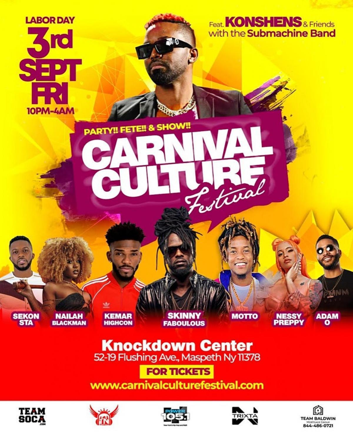 Carnival Culture Festival flyer or graphic.