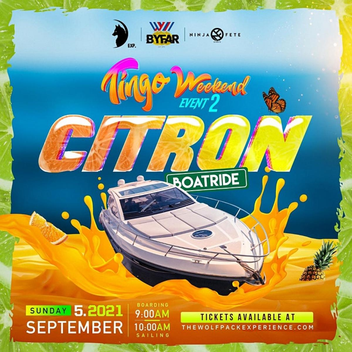 Citron Boatride flyer or graphic.