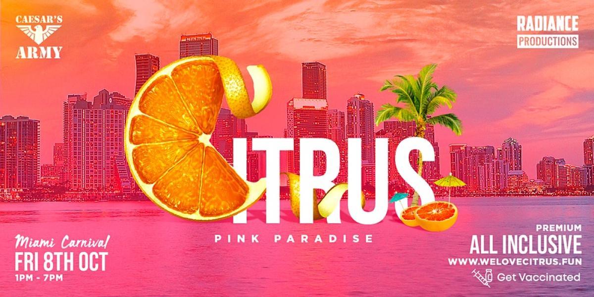 Citrus Miami Carnival 2021 flyer or graphic.