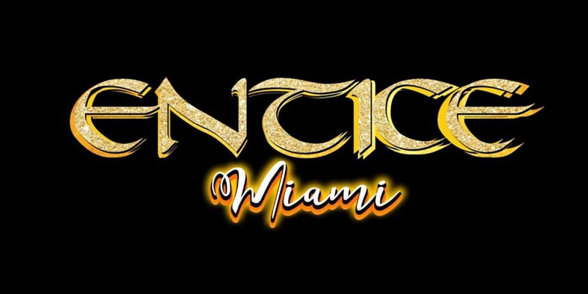 Entice Miami flyer or graphic.