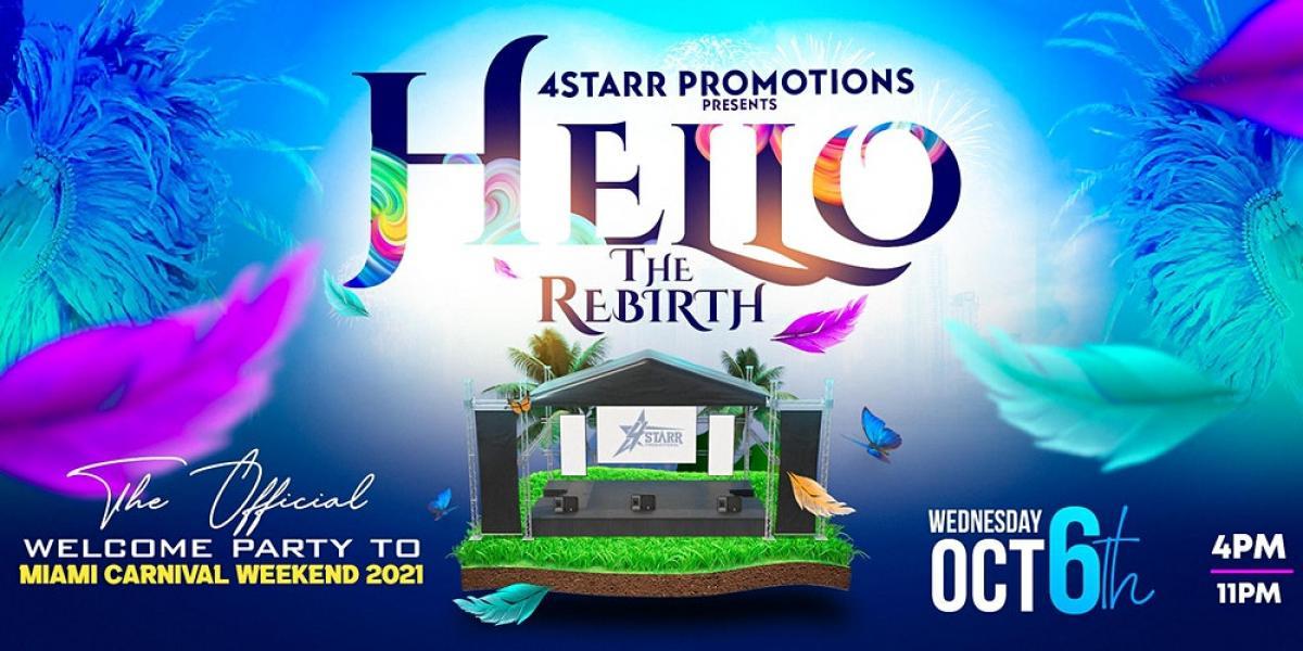 Hello-The Rebirth flyer or graphic.