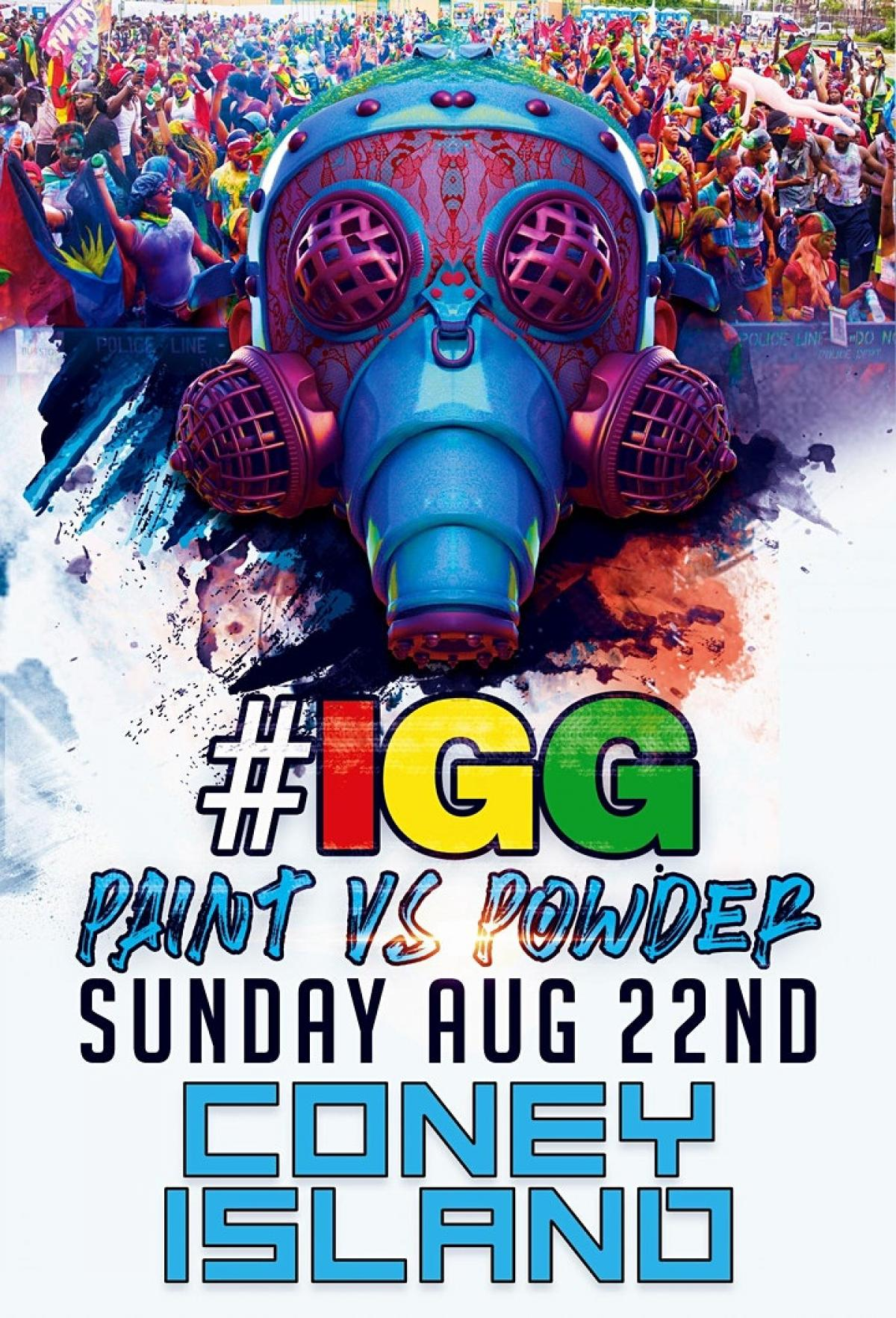 Ice Gold Green Paint Vs Powder 2021 flyer or graphic.