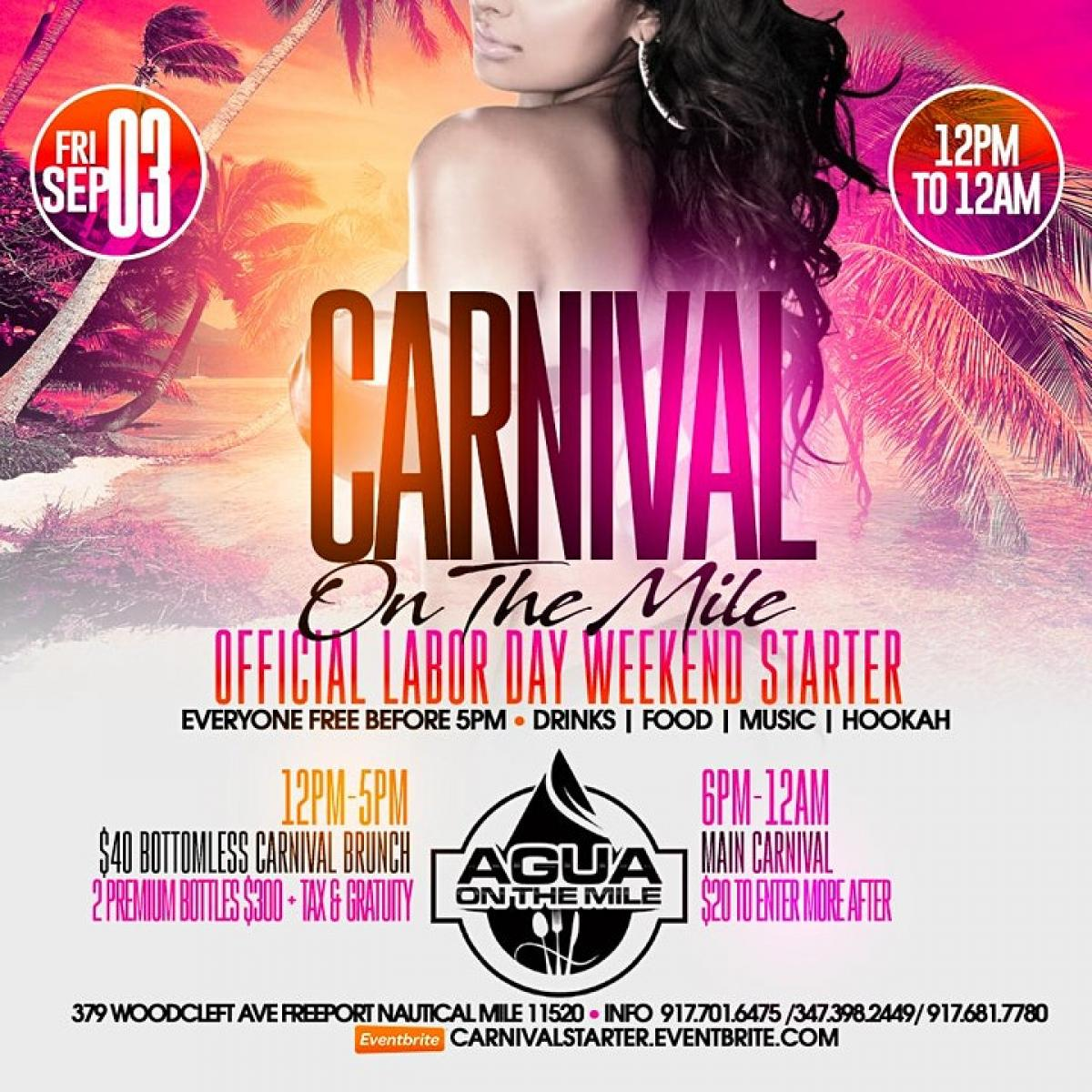 Laborday Weekend Starter flyer or graphic.