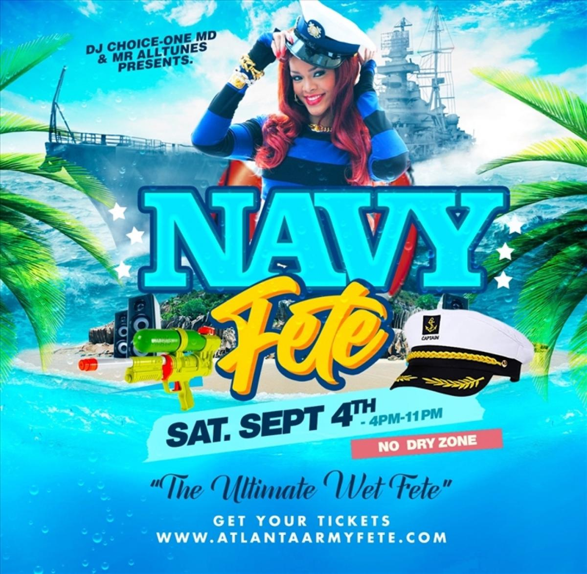 Navy Fete flyer or graphic.