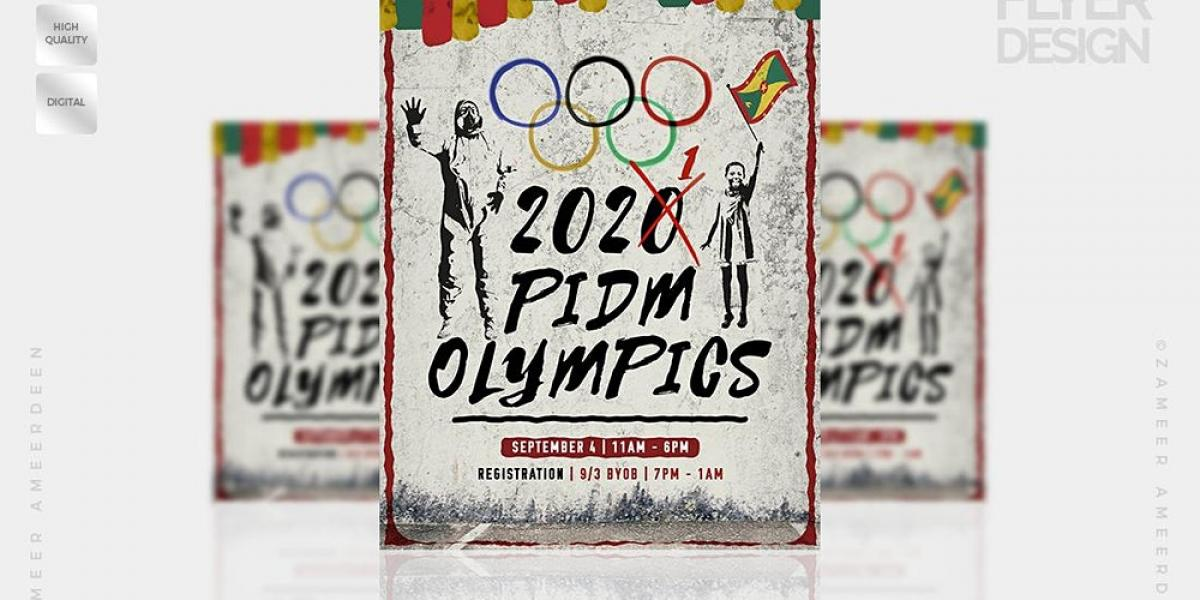 P.I.D.M. OLYMPICS flyer or graphic.