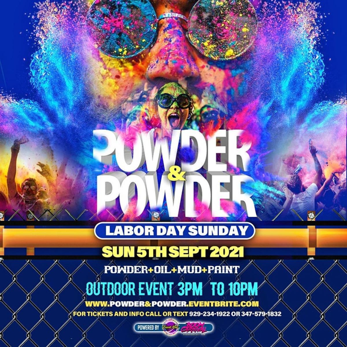 Powder & Powder flyer or graphic.