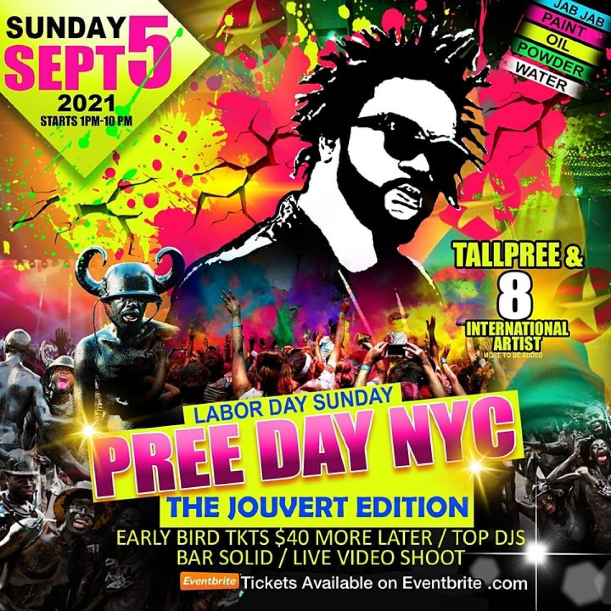 Preeday NYC- The Jouvert Edition flyer or graphic.