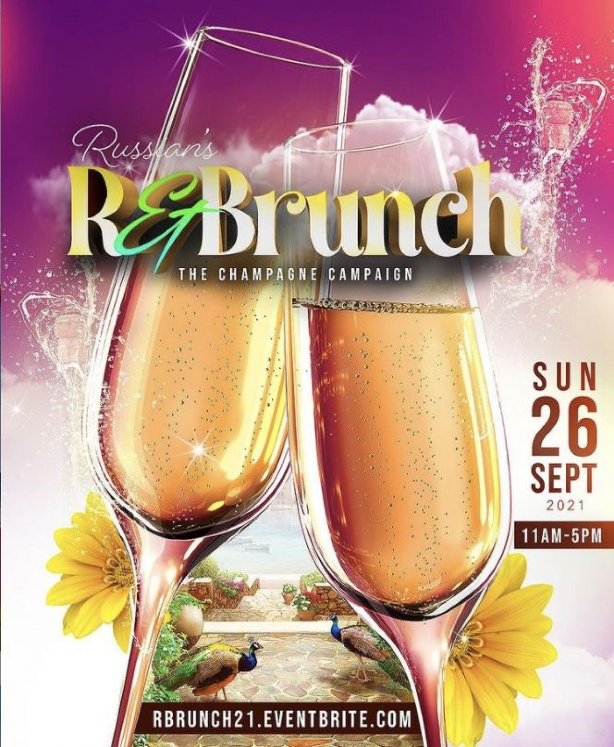 """R&Brunch """"The Champagne Campaign"""" flyer or graphic."""