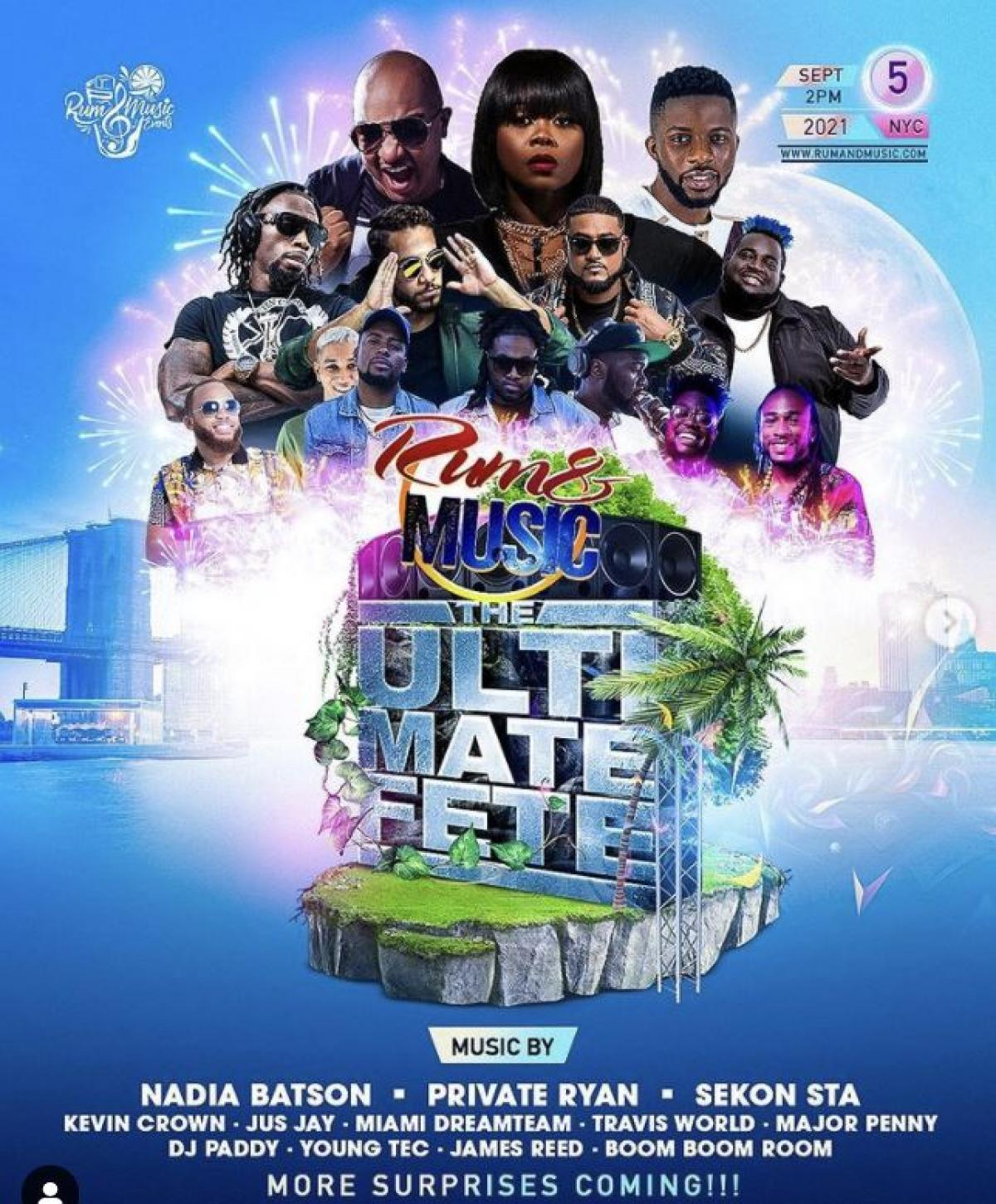 Rum and Music : The Ultimate Fete flyer or graphic.