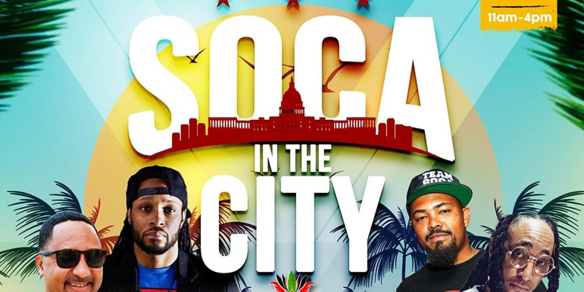 """Soca In The City """"Brunch Party""""  flyer or graphic."""