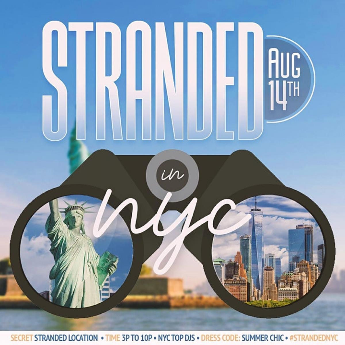 Stranded NYC flyer or graphic.