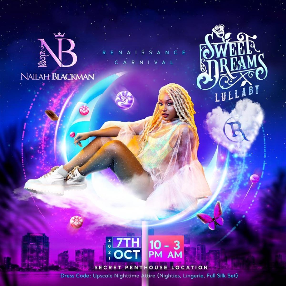 Sweet Dreams Miami flyer or graphic.