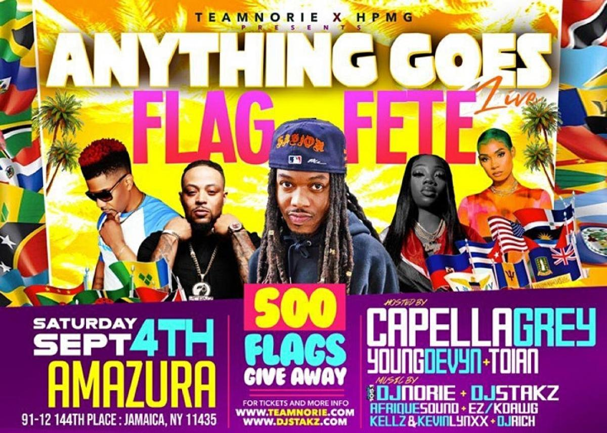 The Ultimate Annual Flag Fete Experience  flyer or graphic.
