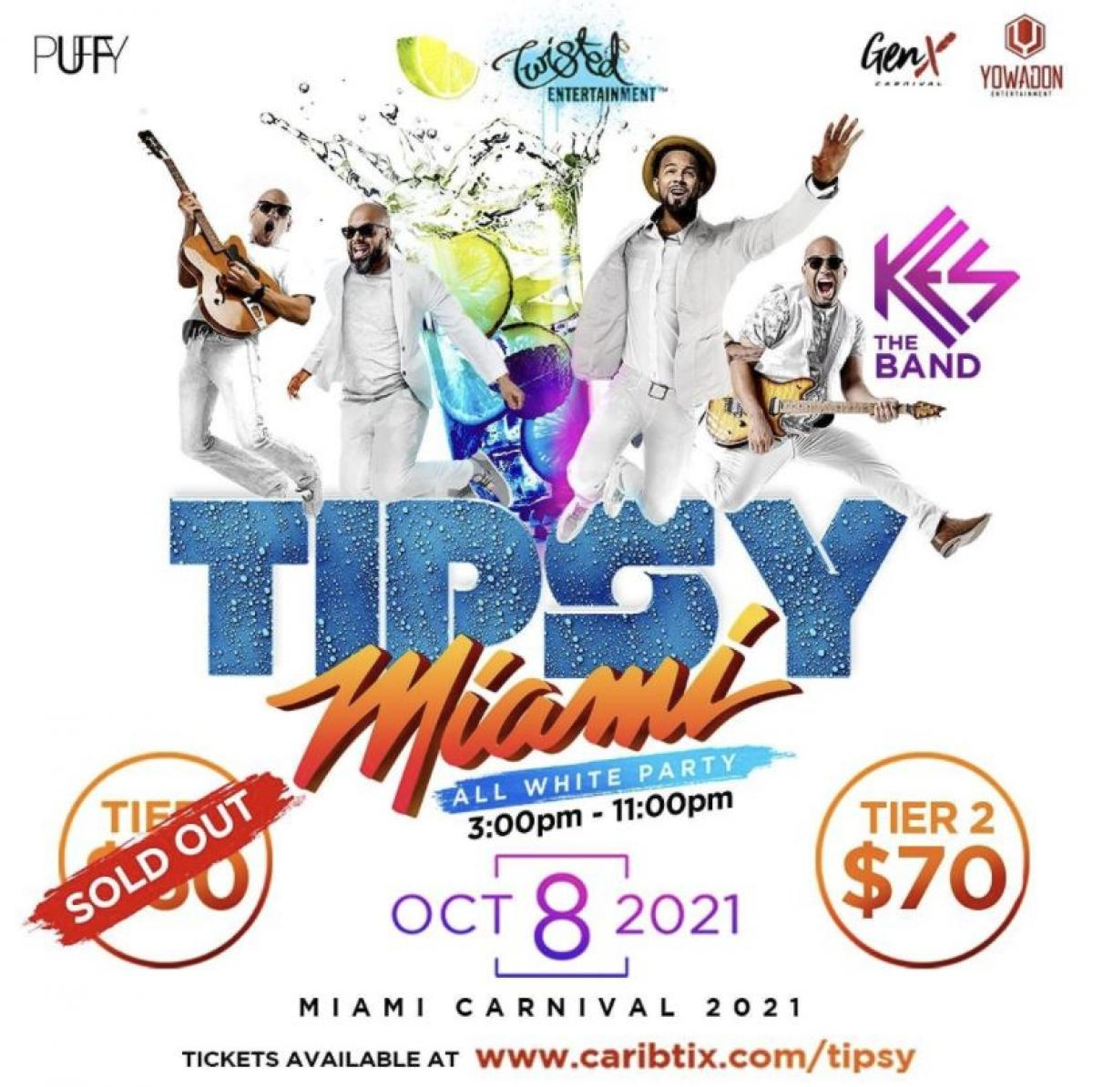 Tipsy Miami flyer or graphic.