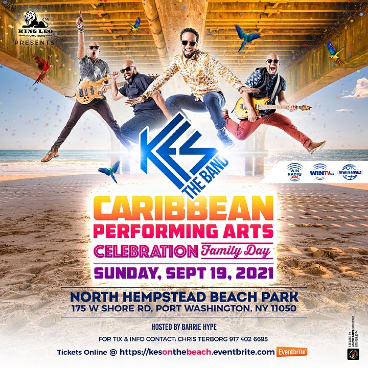 Caribbean Performing Art Concert Family Day flyer or graphic.