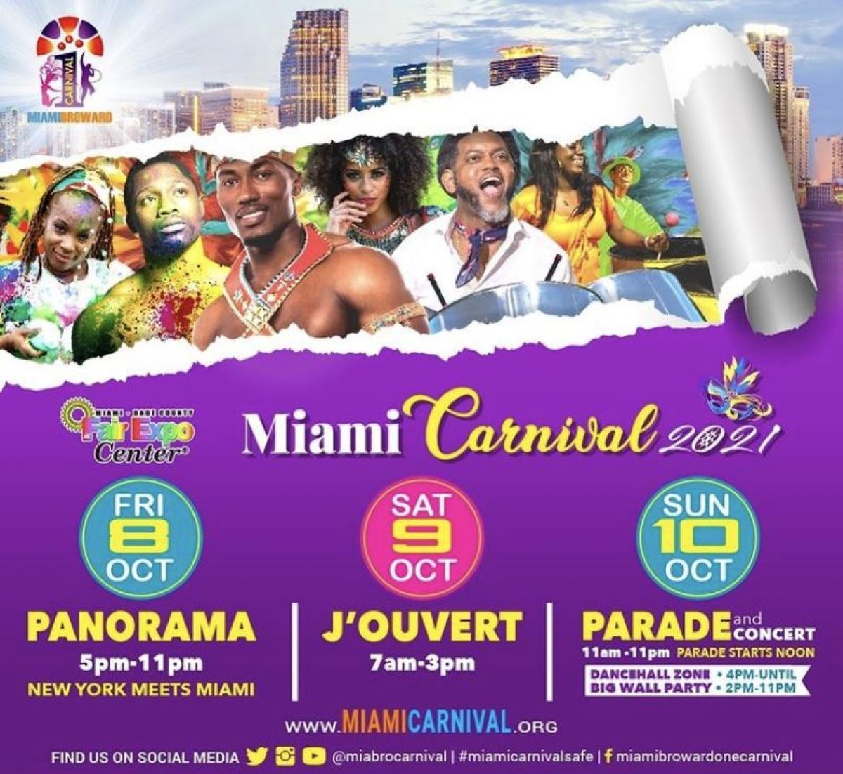 Miami Broward Carnival 2021: Season Pass flyer or graphic.
