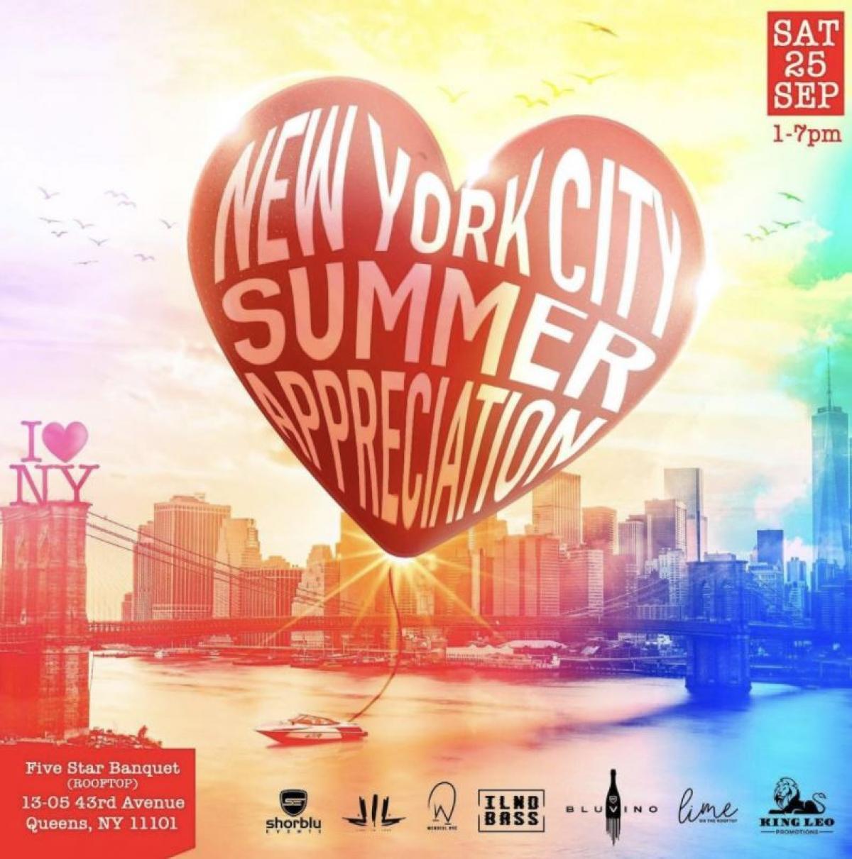 NYC Summer Appreciation Party  flyer or graphic.